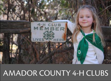 Amador County 4-H Community Club Information