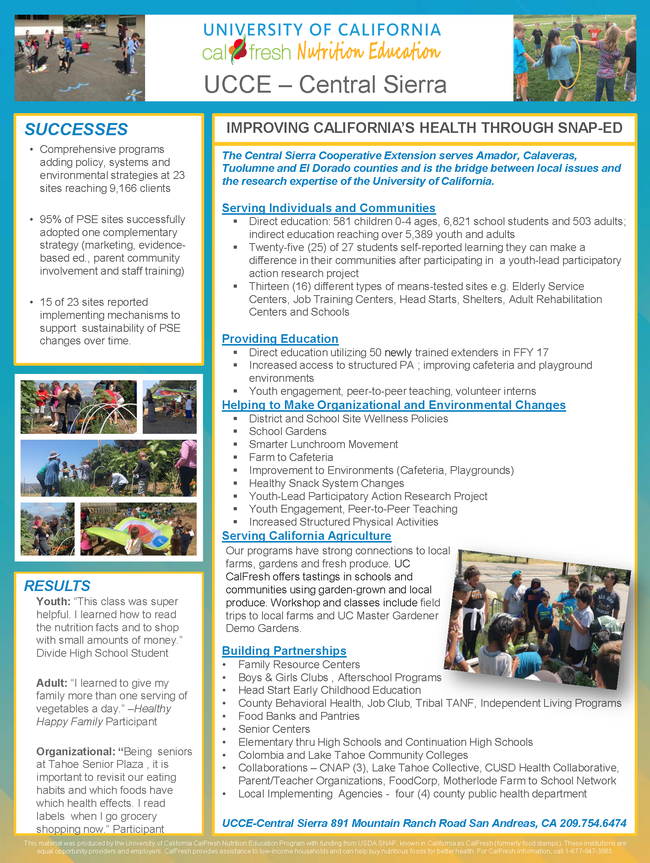 UC CalFresh County Profile - UCCE Central Sierra 2017 final 12.18.17