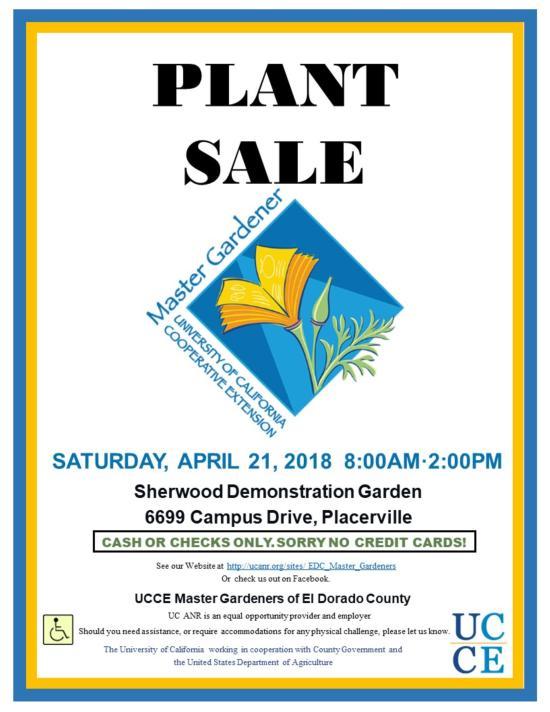 Spring Plant Sale Flyer 2018
